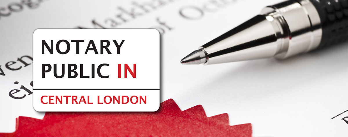 notary public Central London